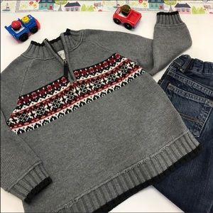 Carter's Toddler Fair Isle Gray Sweater